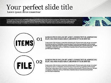 Monochrome Presentation Concept, Slide 2, 02702, Presentation Templates — PoweredTemplate.com