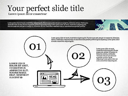 Monochrome Presentation Concept, Slide 5, 02702, Presentation Templates — PoweredTemplate.com