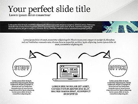 Monochrome Presentation Concept, Slide 7, 02702, Presentation Templates — PoweredTemplate.com