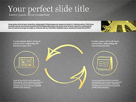 Monochrome Presentation Concept, Slide 9, 02702, Presentation Templates — PoweredTemplate.com