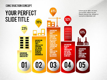 Industry Infographics Presentation Concept, 02703, Presentation Templates — PoweredTemplate.com