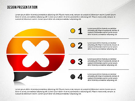 Presentation Template with Creative Shapes Slide 2