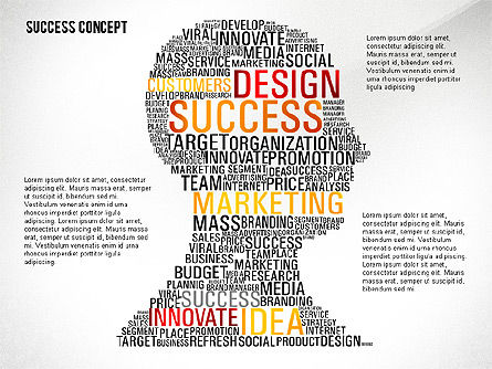 Success Word Cloud Concept Presentation, 02705, Presentation Templates — PoweredTemplate.com
