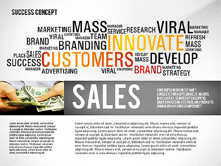 Success Word Cloud Concept Presentation, Slide 2, 02705, Presentation Templates — PoweredTemplate.com