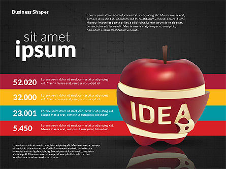 Infographics Stages with Apple, Slide 11, 02708, Stage Diagrams — PoweredTemplate.com