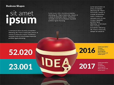 Infographics Stages with Apple, Slide 14, 02708, Stage Diagrams — PoweredTemplate.com