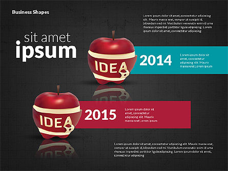 Infographics Stages with Apple, Slide 15, 02708, Stage Diagrams — PoweredTemplate.com