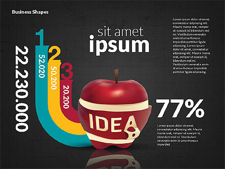Infographics Stages with Apple, Slide 16, 02708, Stage Diagrams — PoweredTemplate.com