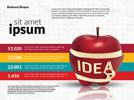 Infographics Stages with Apple, Slide 3, 02708, Stage Diagrams — PoweredTemplate.com