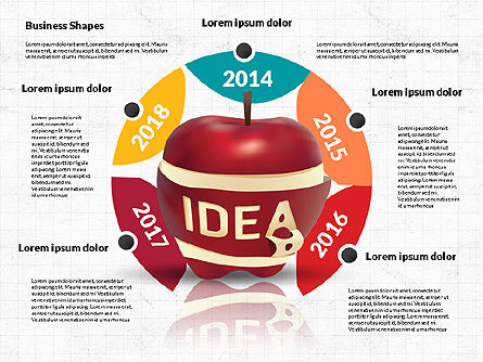 Infographics Stages with Apple, Slide 4, 02708, Stage Diagrams — PoweredTemplate.com