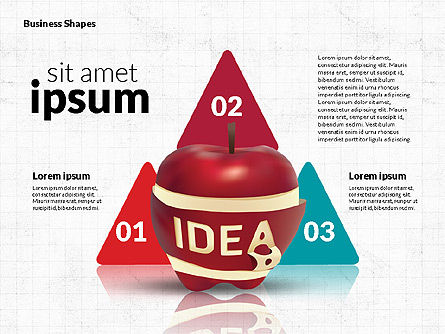 Infographics Stages with Apple, Slide 5, 02708, Stage Diagrams — PoweredTemplate.com