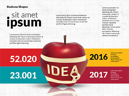 Infographics Stages with Apple, Slide 6, 02708, Stage Diagrams — PoweredTemplate.com