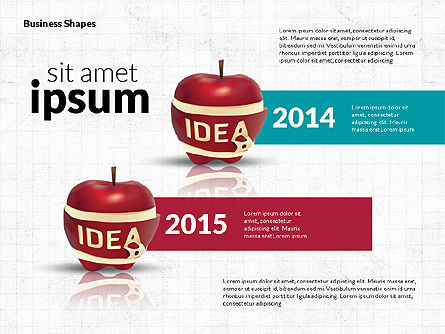 Infographics Stages with Apple, Slide 7, 02708, Stage Diagrams — PoweredTemplate.com