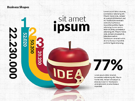 Infographics Stages with Apple, Slide 8, 02708, Stage Diagrams — PoweredTemplate.com