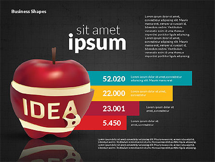 Infographics Stages with Apple, Slide 9, 02708, Stage Diagrams — PoweredTemplate.com
