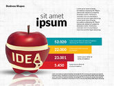 Stage Diagrams: Infographics Stages with Apple #02708