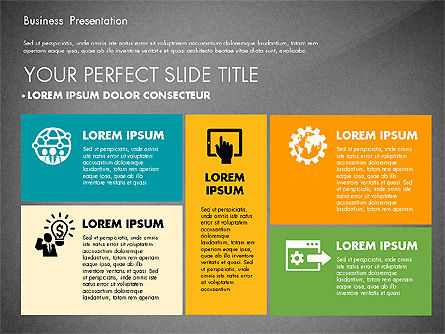 Elegant Business Presentation in Flat Design, Slide 10, 02710, Presentation Templates — PoweredTemplate.com