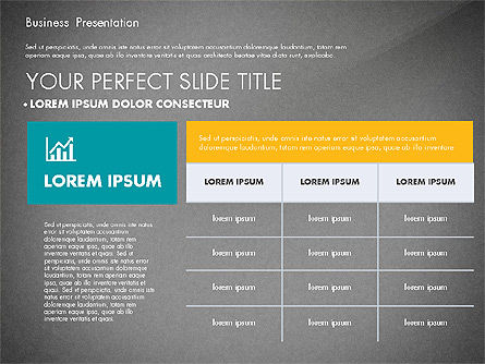 Elegant Business Presentation in Flat Design, Slide 12, 02710, Presentation Templates — PoweredTemplate.com