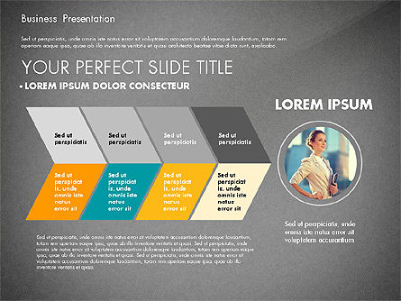 Elegant Business Presentation in Flat Design, Slide 13, 02710, Presentation Templates — PoweredTemplate.com
