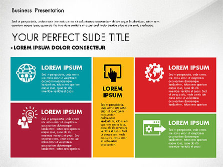Elegant Business Presentation in Flat Design, Slide 2, 02710, Presentation Templates — PoweredTemplate.com