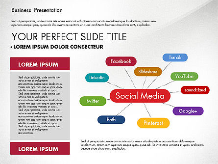 Elegant Business Presentation in Flat Design, Slide 3, 02710, Presentation Templates — PoweredTemplate.com