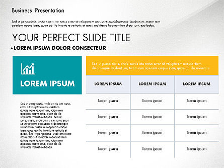 Elegant Business Presentation in Flat Design, Slide 4, 02710, Presentation Templates — PoweredTemplate.com