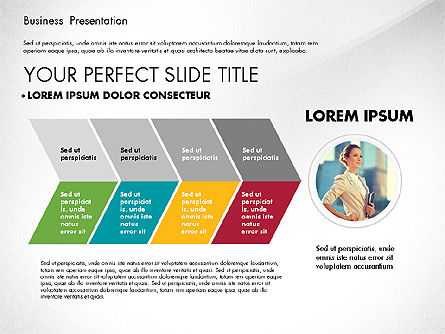 Elegant Business Presentation in Flat Design, Slide 5, 02710, Presentation Templates — PoweredTemplate.com