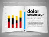 Data Driven Diagrams and Charts: Data Driven Presentation with Book and Pencil #02711