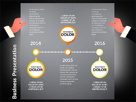 Unusual Business Presentation with Data Driven Charts, Slide 10, 02712, Presentation Templates — PoweredTemplate.com