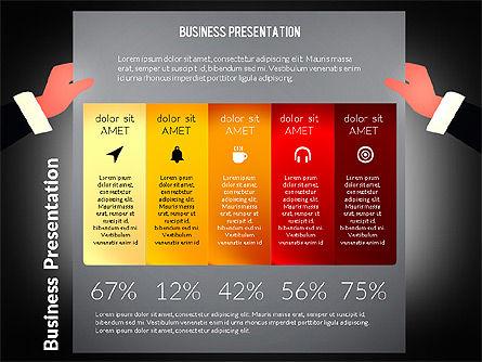 Unusual Business Presentation with Data Driven Charts, Slide 13, 02712, Presentation Templates — PoweredTemplate.com