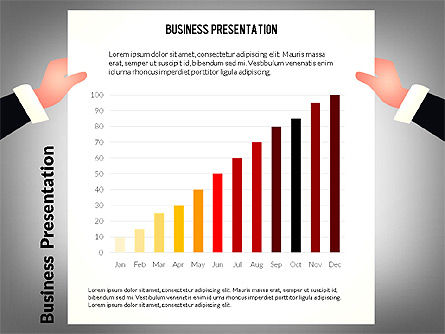 Unusual Business Presentation with Data Driven Charts, Slide 4, 02712, Presentation Templates — PoweredTemplate.com