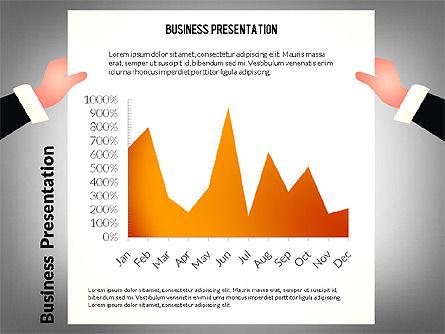 Unusual Business Presentation with Data Driven Charts, Slide 6, 02712, Presentation Templates — PoweredTemplate.com