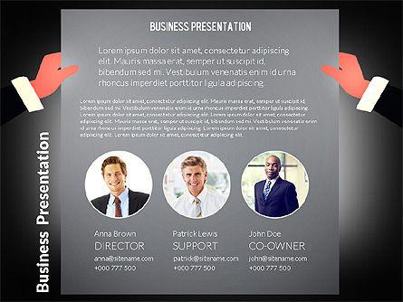 Unusual Business Presentation with Data Driven Charts, Slide 9, 02712, Presentation Templates — PoweredTemplate.com