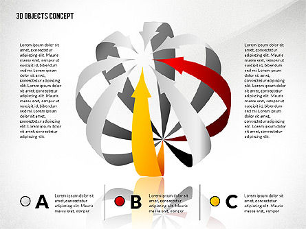 Creative Three Dimension Shapes, 02713, Shapes — PoweredTemplate.com