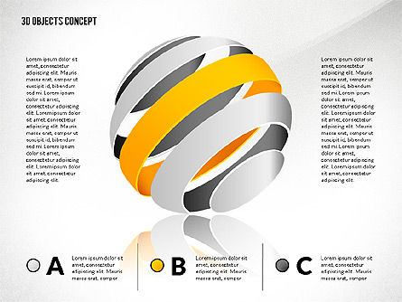 Creative Three Dimension Shapes, Slide 2, 02713, Shapes — PoweredTemplate.com