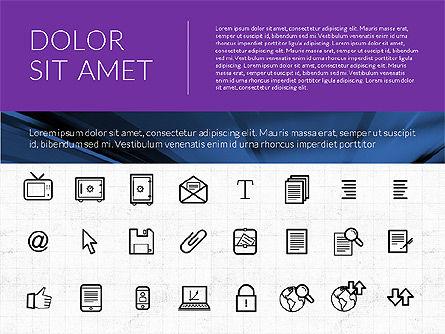 Icons: アイコン付きのフラットデザインプレゼンテーション #02714