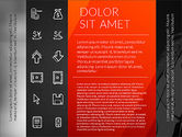 Flat Design Presentation with Icons#13