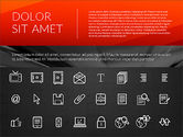 Flat Design Presentation with Icons#9