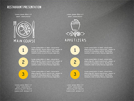 Restaurant Menu Serving Presentation Template, Slide 12, 02716, Presentation Templates — PoweredTemplate.com