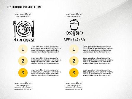 Restaurant Menu Serving Presentation Template, Slide 4, 02716, Presentation Templates — PoweredTemplate.com
