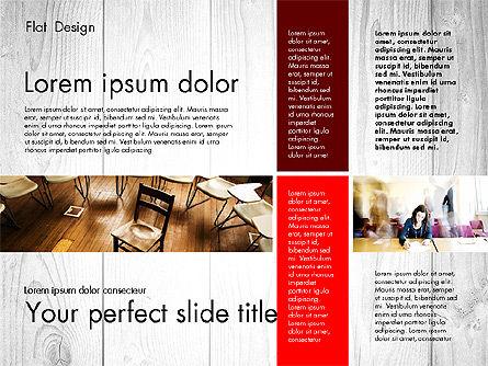 Presentation Templates: Platte ontwerp presentatie met foto's #02718