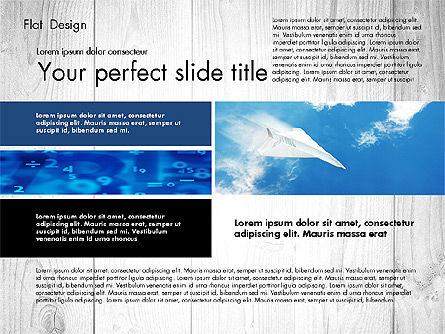 Flat Design Presentation with Photos, Slide 2, 02718, Presentation Templates — PoweredTemplate.com