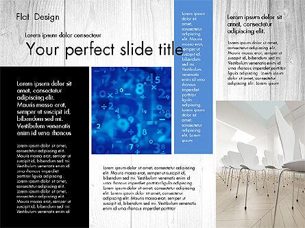 Flat Design Presentation with Photos, Slide 4, 02718, Presentation Templates — PoweredTemplate.com