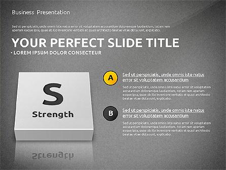 SWOT Analysis with 3D Blocks, Slide 10, 02719, Business Models — PoweredTemplate.com