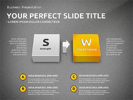 SWOT Analysis with 3D Blocks, Slide 15, 02719, Business Models — PoweredTemplate.com