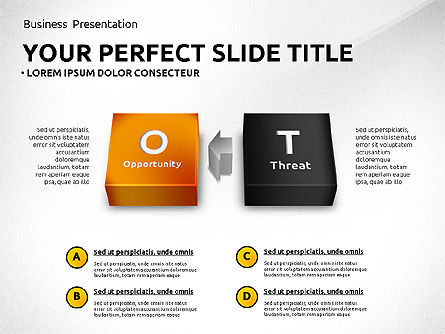 SWOT Analysis with 3D Blocks, Slide 6, 02719, Business Models — PoweredTemplate.com