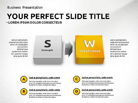 SWOT Analysis with 3D Blocks, Slide 7, 02719, Business Models — PoweredTemplate.com