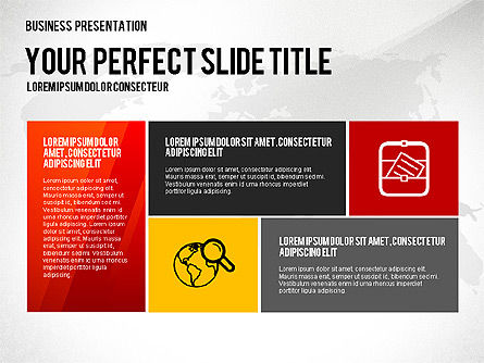 Vivid Presentation Template, Slide 4, 02720, Presentation Templates — PoweredTemplate.com