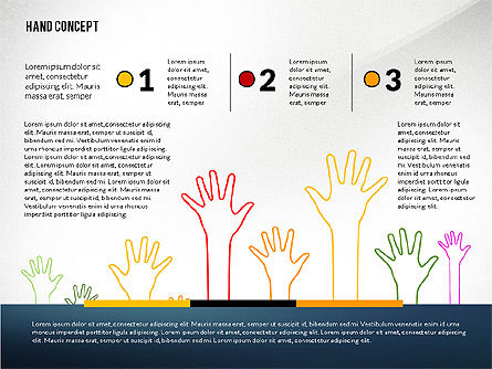 Hands Up Presentation Template, Slide 3, 02722, Presentation Templates — PoweredTemplate.com