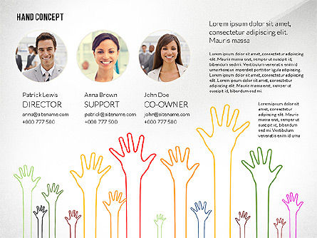 Hands Up Presentation Template, Slide 4, 02722, Presentation Templates — PoweredTemplate.com